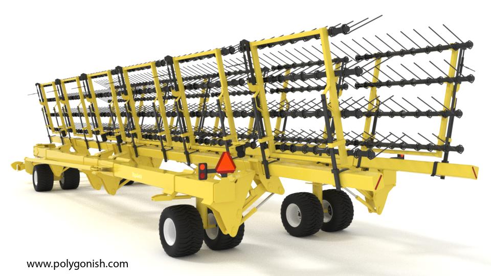 Degelman Strawmaster Pro 120 Heavy Harrow 3D Model