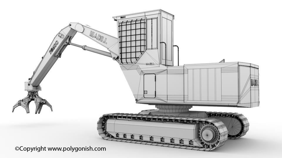 Madill 2850C Log Loader 3D Model