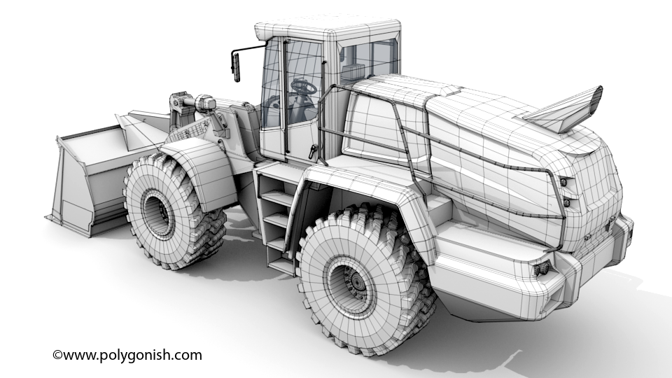 Liebherr L586 Wheel Loader 3D Model