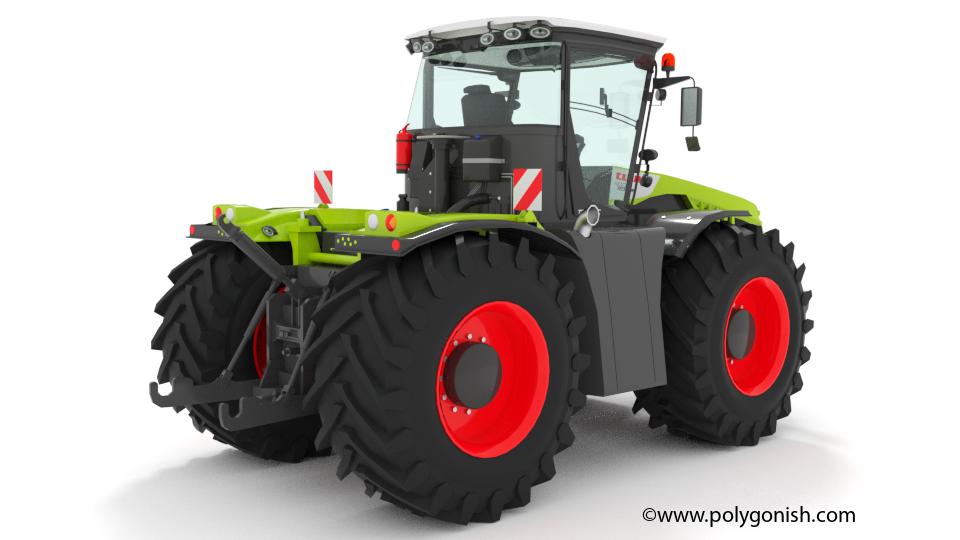 CLAAS XERION 4000 Tractor 3D Model