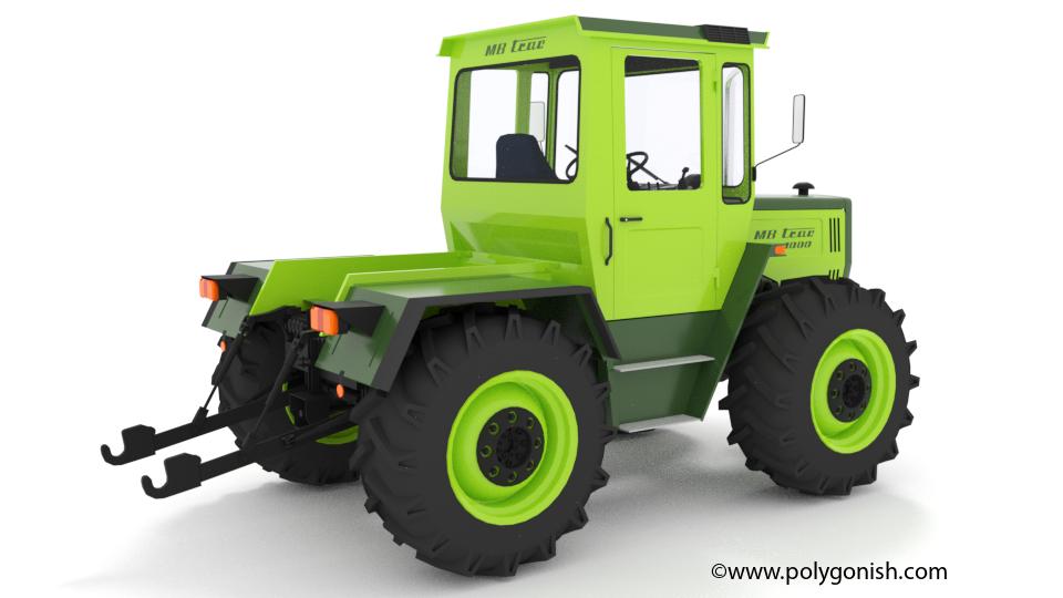 MB Trac 1000 Tractor 3D Model