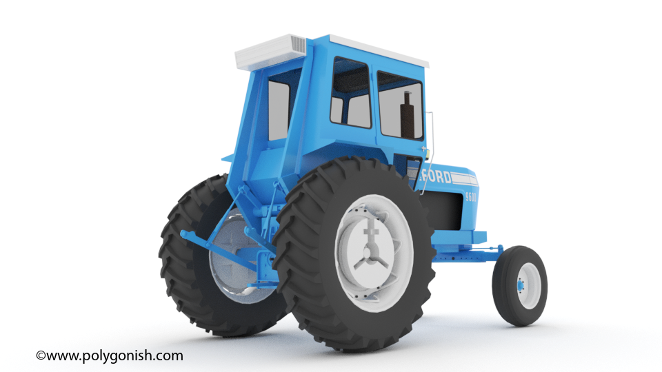 Ford 9600 Tractor 3D Model