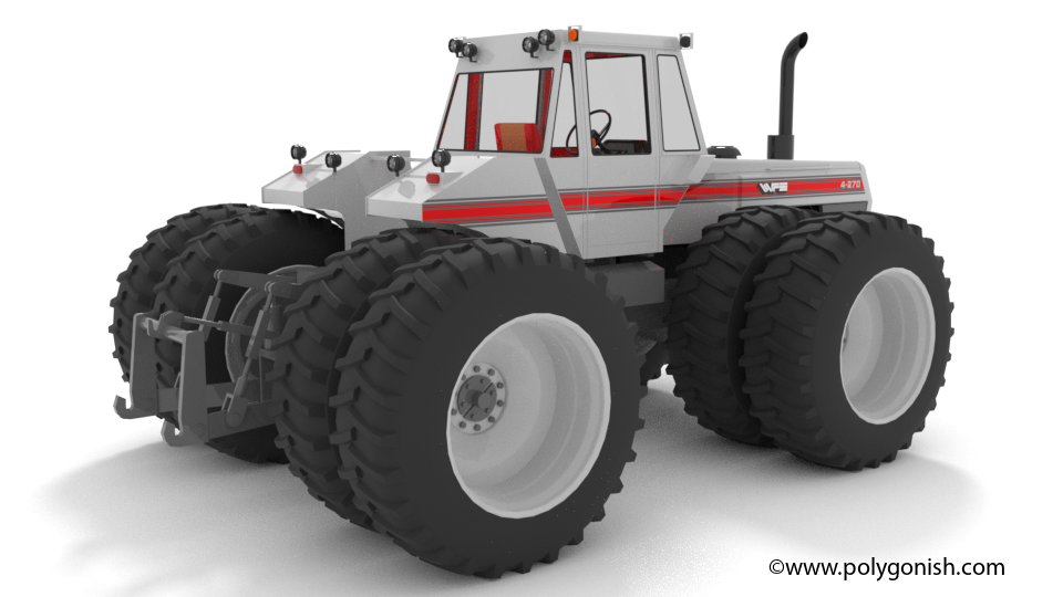 White 4-270 Tractor 3D Model