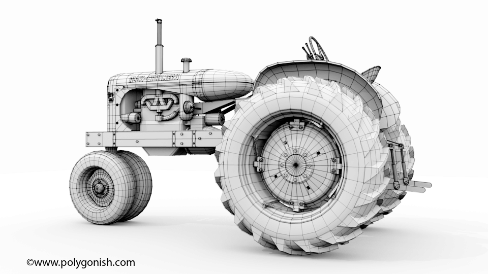 Allis Chalmers WD45 Tractor 3D Model