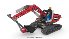 Lego Technic 8294 Excavator 3D Model
