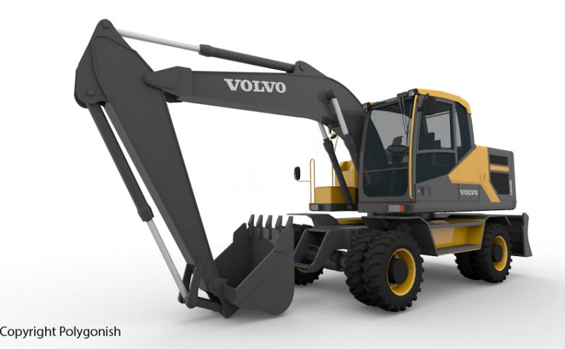 Volvo EW140E Excavator 3D Model