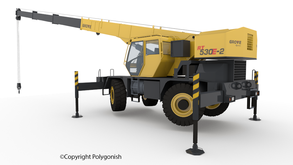 Grove RT530E Crane 3D Model