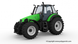 Deutz Fahr Agrotron 120 3D Model