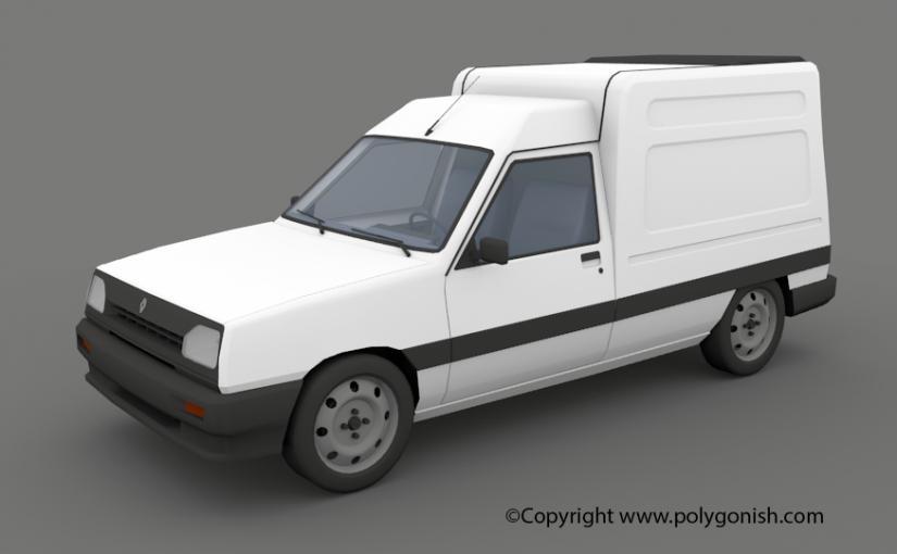 Renault Express 3D Model