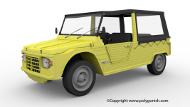 Citroen Mehari 3D Model