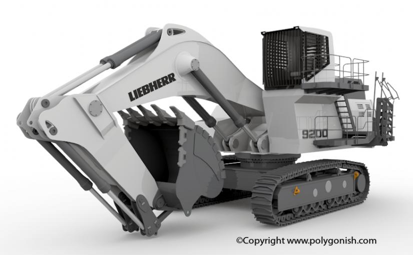 Liebherr R9200 Excavator 3D Model