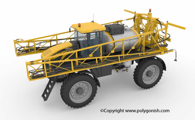 Challenger Rotator RG1300 3D Model