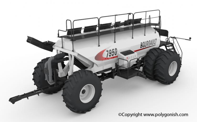 Bourgault 7950 Air Seeder 3D Model