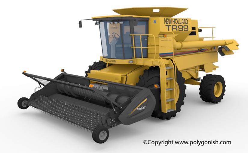 New Holland TR99 – MacDon Pick-Up 3D Model