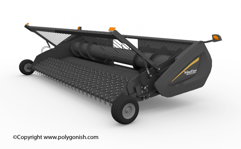 MacDon PW8 Pick-Up Header 3D Model