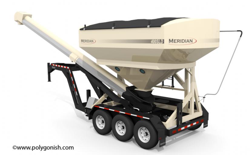 Meridian 400SLD Seed Tender 3D Model