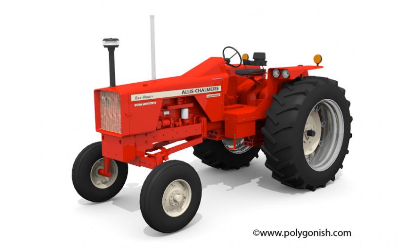 Allis Chalmers 190 Tractor 3D Model