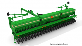 Great Plain 3S-3000HD Drill 3D Model