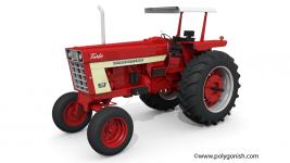 Case IH 1066 Tractor 3D Model