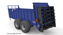 JBS 2248 Vertical Beater Manure Spreader 3D Model