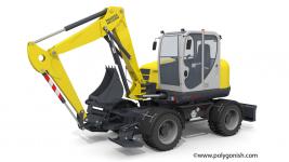 Wacker Neuson EW100 Excavator 3D Model