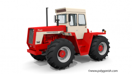 International Harvester 4166 Tractor 3D Model