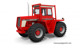 International Harvester 4186 Tractor 3D Model
