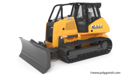 Case 1150M Crawler Dozer 3D Model