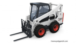 Bobcat S770 - Fork Attachment 3D Model