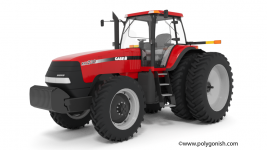 CASE IH MX230 Magnum Tractor 3D Model