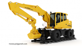 Atlas 1604ZW Rail-road Excavator 3D Model