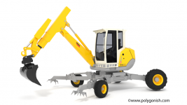 Menzi Muck M220 Walking Excavators 3D Model