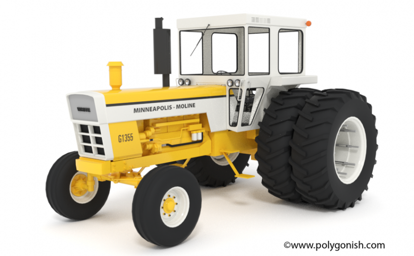 Minneapolis-Moline G1355 Tractor 3D Model