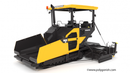 Volvo P8820C ABG Tracked Paver 3D Model