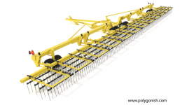 Degelman Strawmaster Pro 120 Heavy Harrow 3D Model