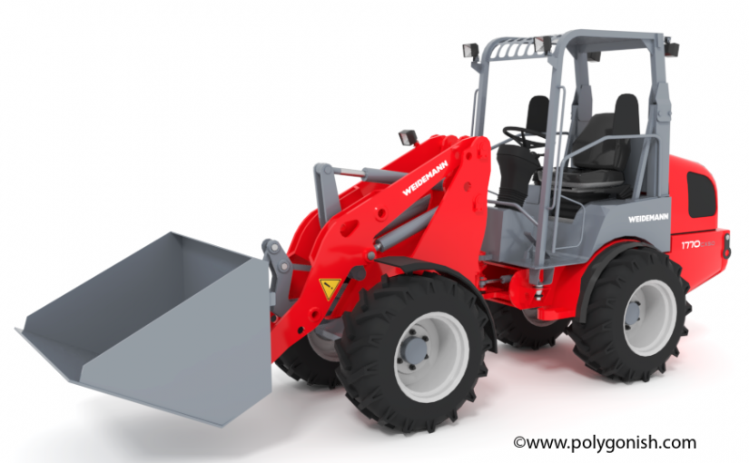 Weidemann 1770 CX50 Wheel Loader 3D Model