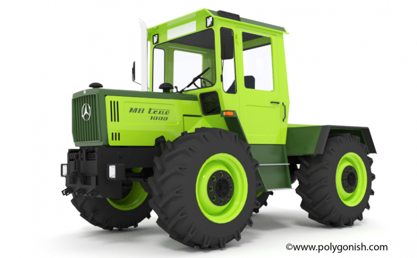 mb trac 1000 tractor 3d model polygonish store. Black Bedroom Furniture Sets. Home Design Ideas