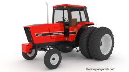 International Harvester 3688 Tractor 3D Model