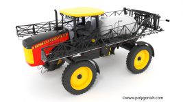 Versatile Self-Propelled Sprayer SX280 3D Model