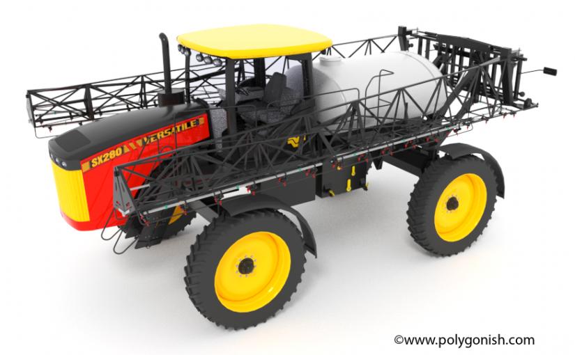 Versatile Self-Propelled Sprayer SX280 3D Model