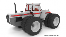 White 4-270 Tractor 3D Model