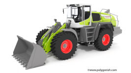 Claas TORION 1914 Wheel Loader 3D Model