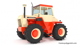 Case 1470 Tractor 3D Model