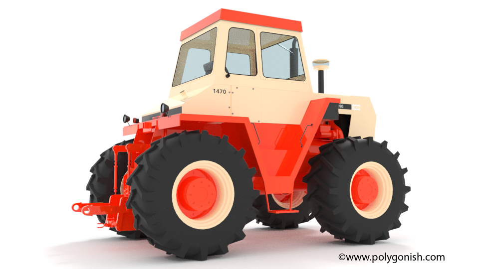 Case 1470 Tractor 3D Model