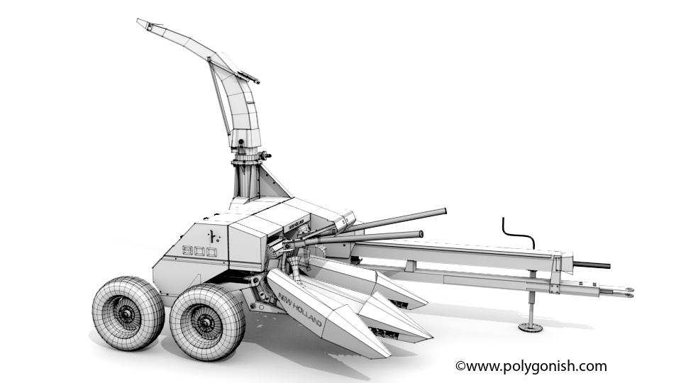 3D Model New Holland 900 Forage Harvester