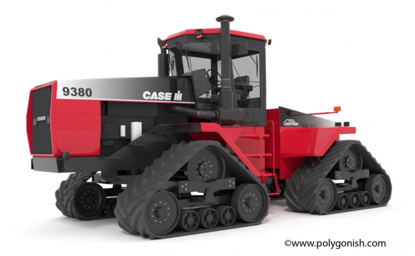 Case IH 9380 Tractor 3D Model