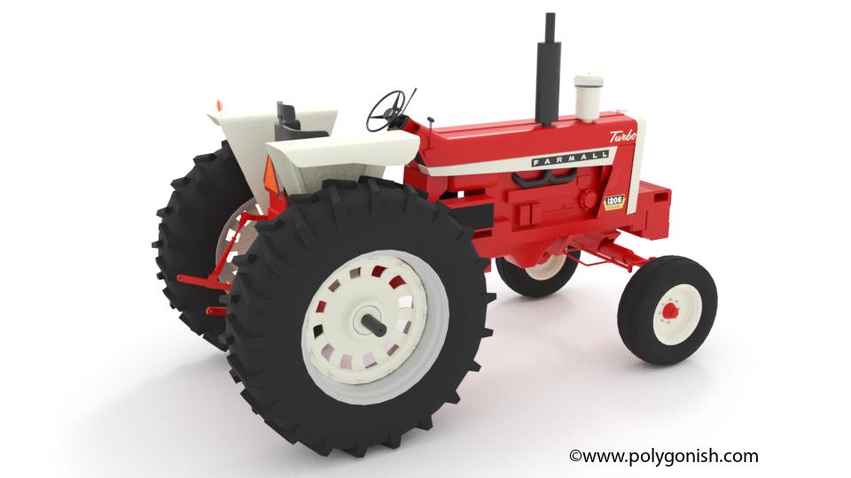 International 1206 Tractor 3D Model