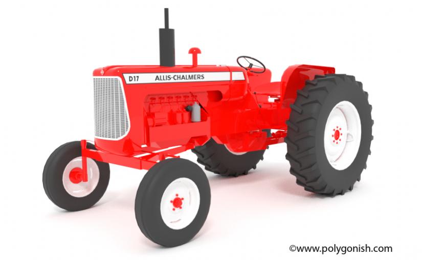 Allis-Chalmers D17 Tractor 3d Model