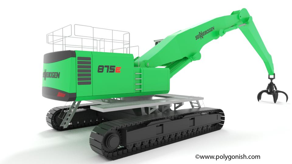 Sennebogen 875E Hybrid 3D Model