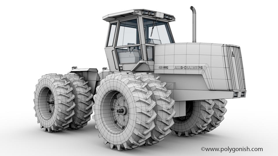 Allis Chalmers 4W-220 3D Model